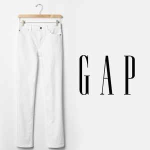 "GAP 1969 | ""Real Straight"" White Denim Jeans"